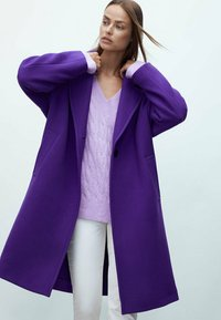 Massimo Dutti - Classic coat - dark purple - 0