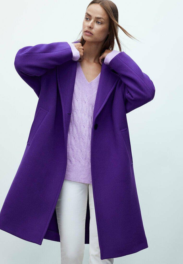 Massimo Dutti - Classic coat - dark purple