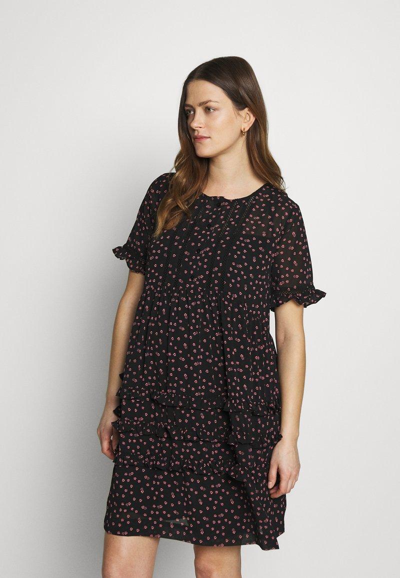 Topshop Maternity - DITSY LADDER TRIM MINI - Sukienka letnia - black
