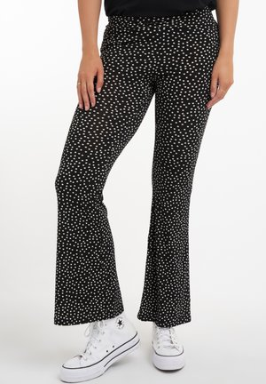 FLARED  - Trousers - multi grey-black
