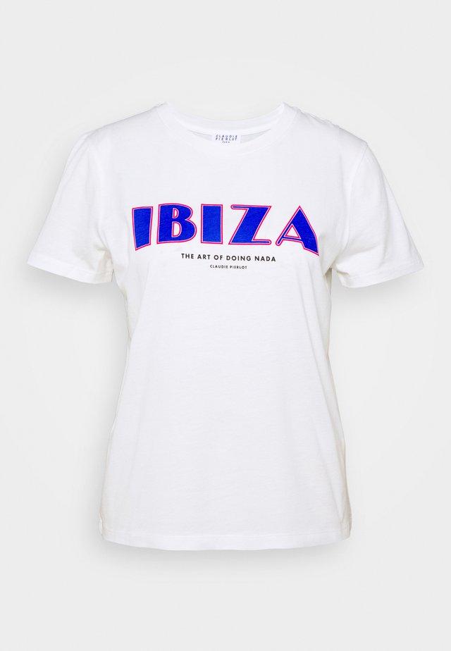TIBIZ - T-shirts med print - ecru