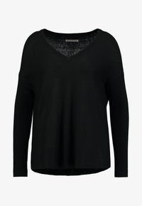 Anna Field - RELAXED V-NECK - Strickpullover - black - 3