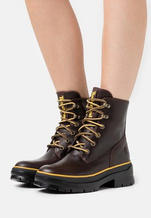 MALYNN MID LACE - Lace-up ankle boots - dark brown