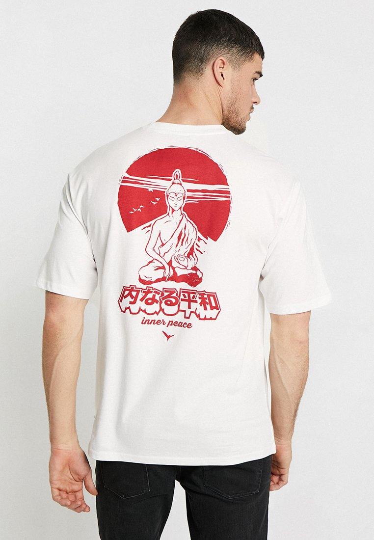 Only & Sons - ONSJAKO BOXY TEE  - Print T-shirt - white