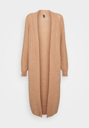 YASBETRICIA LONG CARDIGAN - Vest - tawny brown