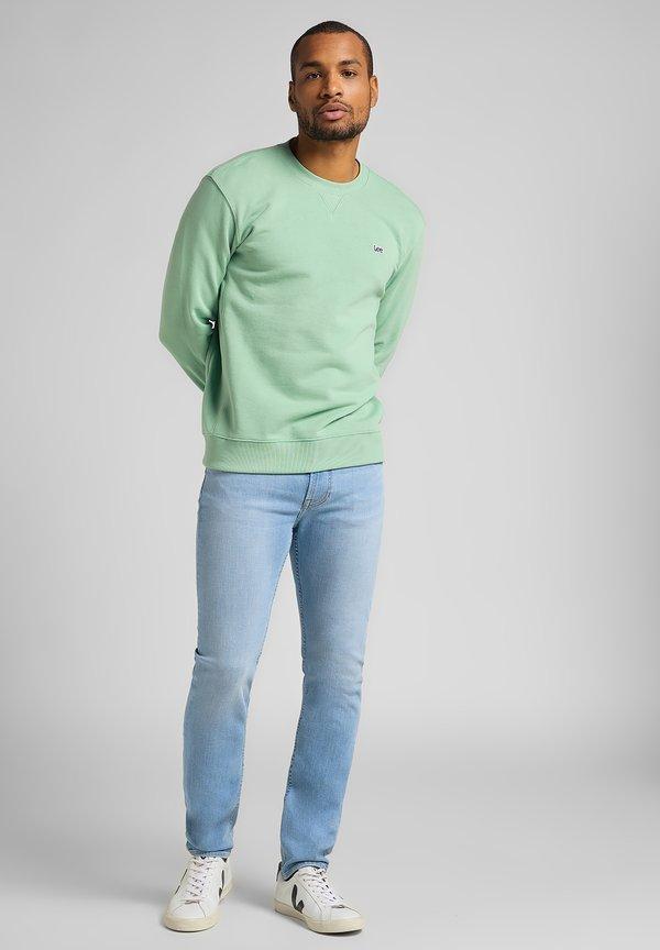 Lee PLAIN CREW - Bluza - mid visual cody/niebieski melanż Odzież Męska CXKY