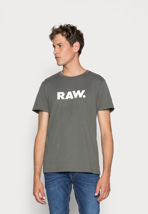 HOLORN - T-shirt con stampa - gs grey