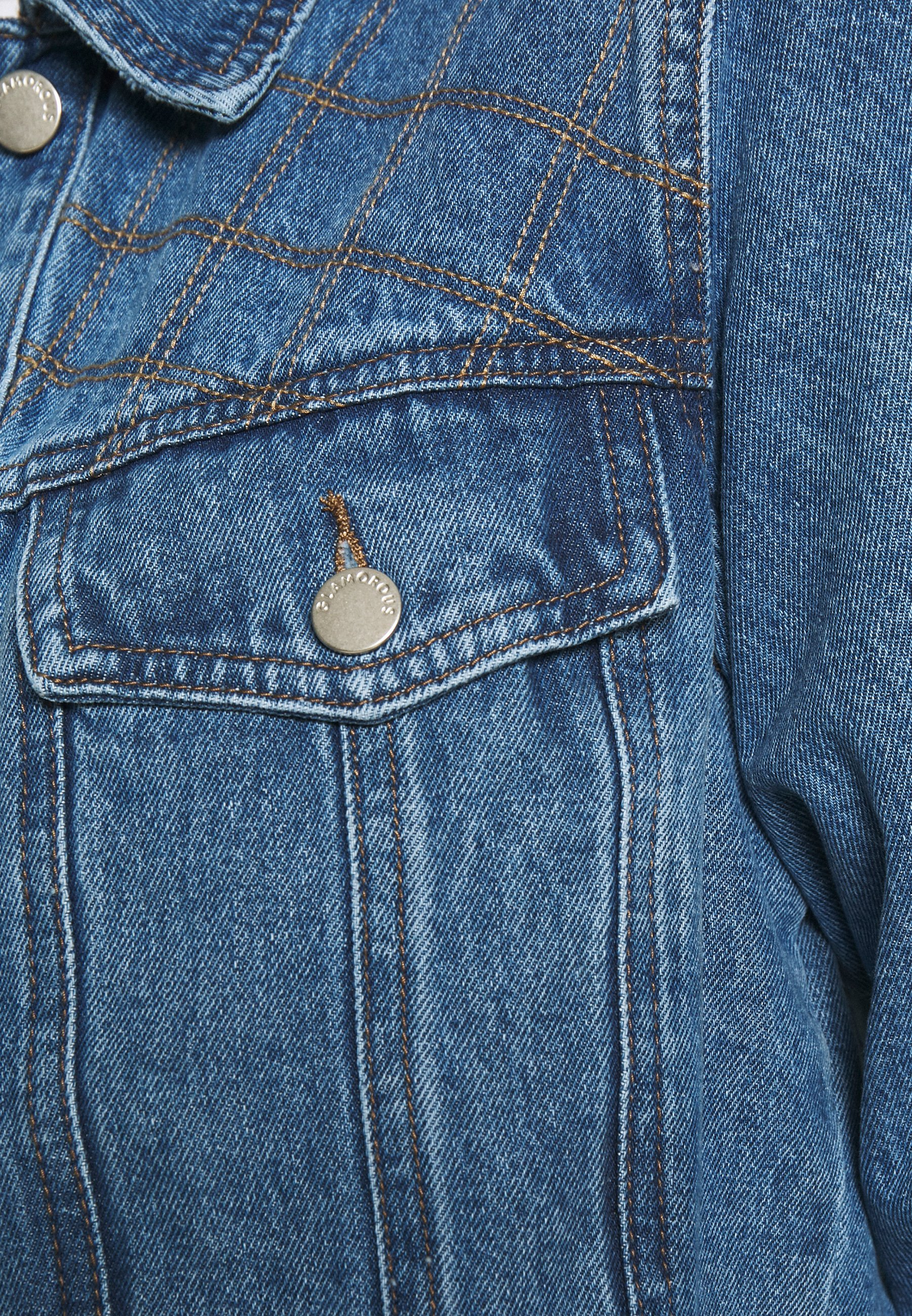 Donna QUILTED CROP JACKET - Giacca di jeans