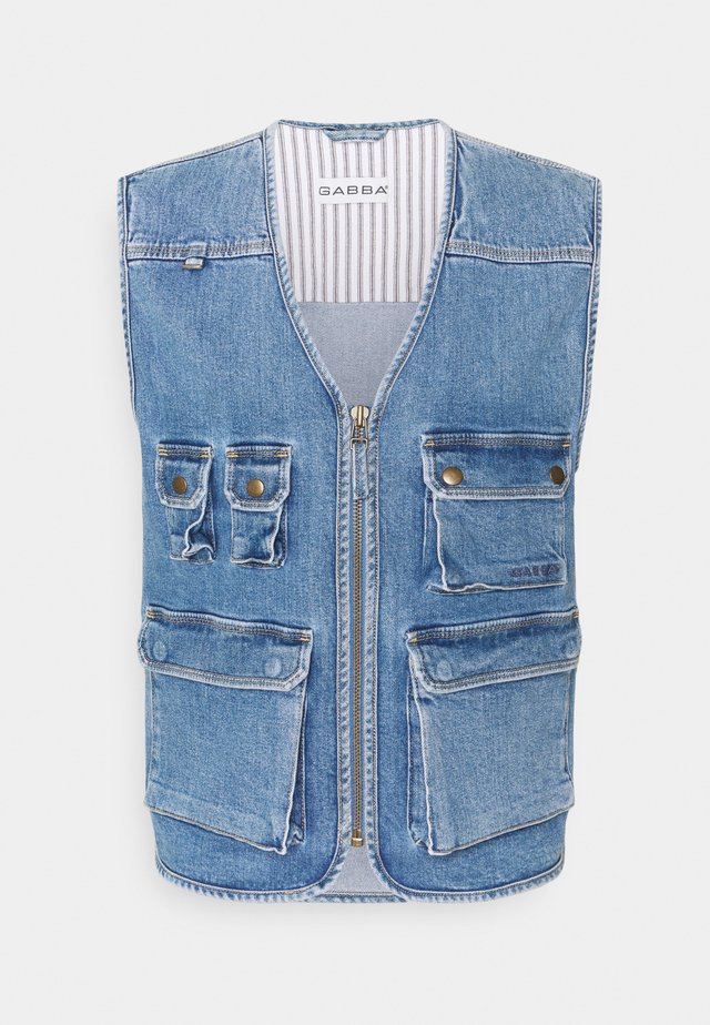UTILITY VEST - Väst - blue denim