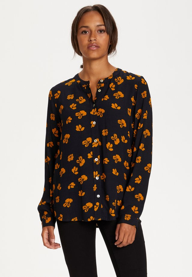 KAAUBITTE - Blouse - black w. yellow flower