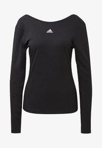 adidas Performance - PRIMEBLUE LONG-SLEEVE TOP - Long sleeved top - black - 6