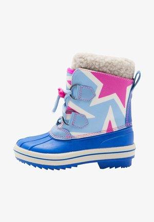 Winter boots - knallpink/eisblau