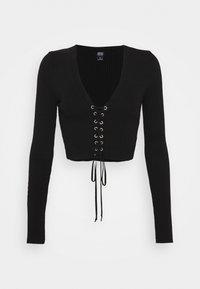 BDG Urban Outfitters - EYELET - Strikkegenser - black - 0