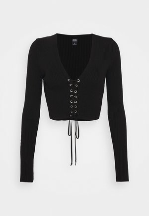 EYELET - Jumper - black