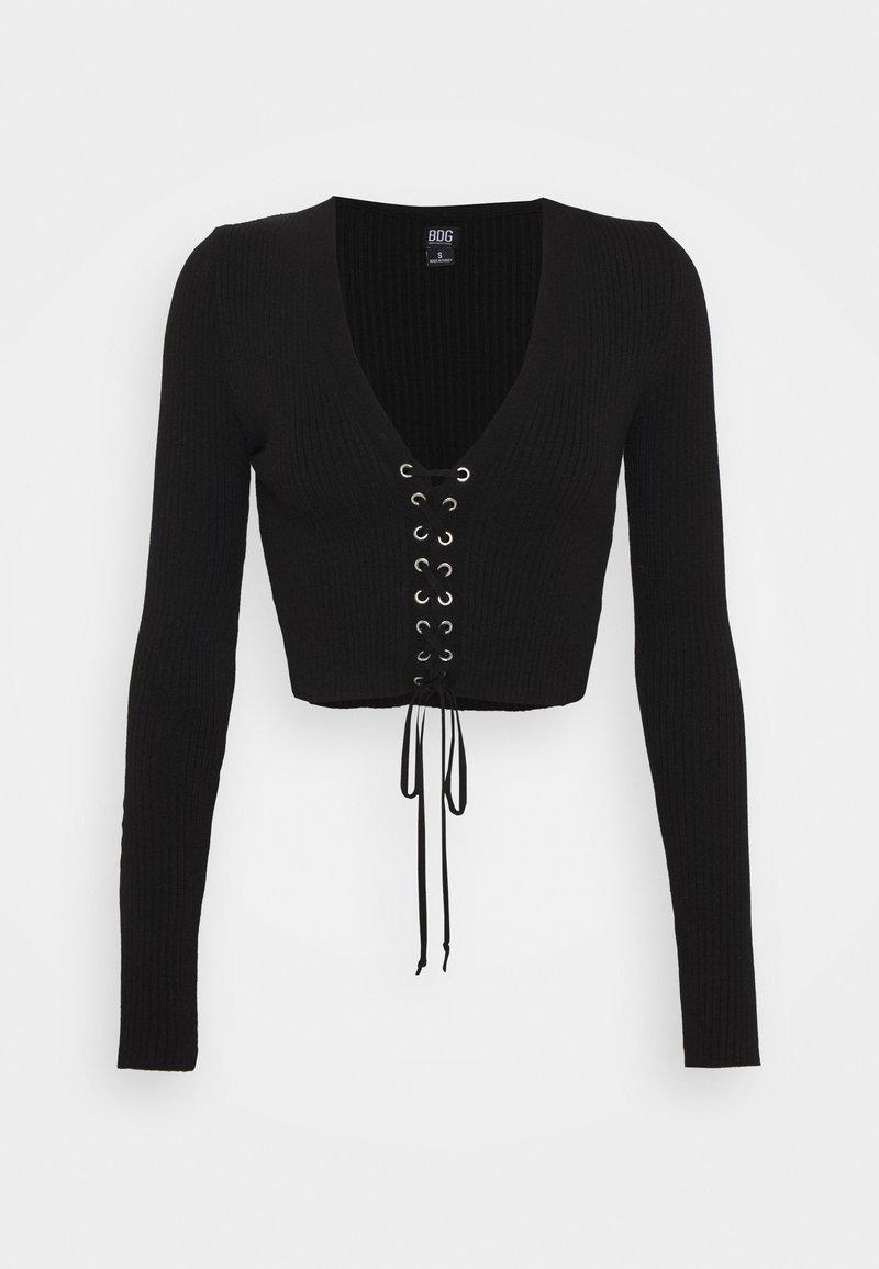 BDG Urban Outfitters - EYELET - Strikkegenser - black