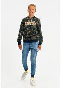 WE Fashion - MET NEONKLEURIG DESSIN - Langærmede T-shirts - dark blue - 0