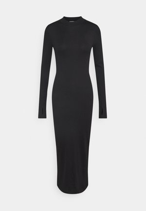 ELLA DRESS - Stickad klänning - black