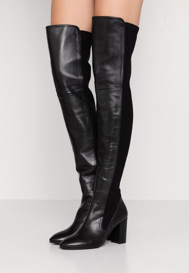 FLEUR - High heeled boots - black