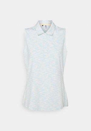 SPACEDYE SLEEVELESS  - Polo shirt - white/acid mint