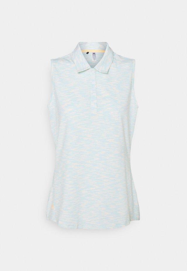 SPACEDYE SLEEVELESS  - Poloshirt - white/acid mint