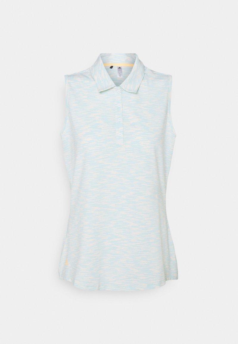 adidas Golf - SPACEDYE SLEEVELESS  - Polo - white/acid mint