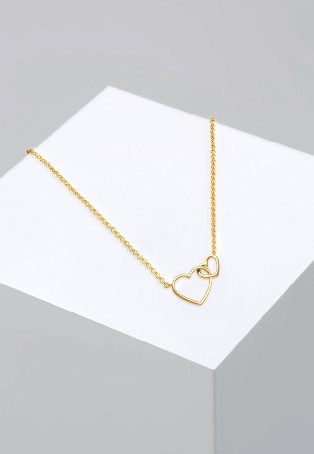 HERZ UNENDLICHKEIT LIEBE  - Ketting - gold coloured