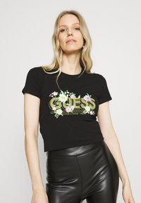Guess - JANEL TEE - T-shirt con stampa - jet black - 3