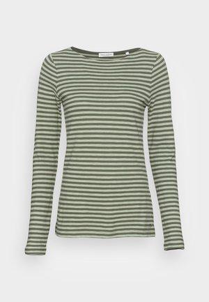 LONG SLEEVE BOAT NECK - Långärmad tröja - dark green/light green