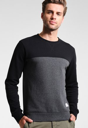 Sweater - mottled dark grey