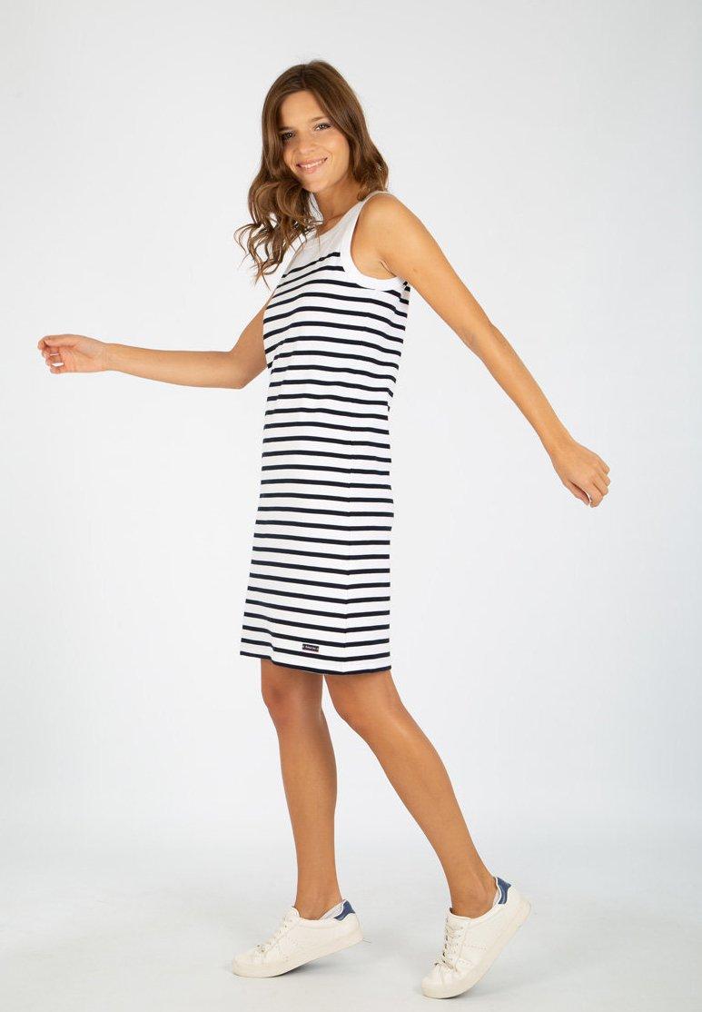 Armor lux - BELLE-ILE - Jersey dress - blanc/rich navy