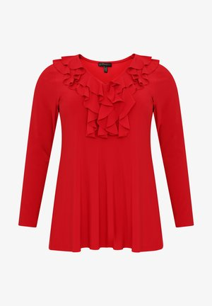 TUNIC WITH LONG SLEEVES - Tunic - red