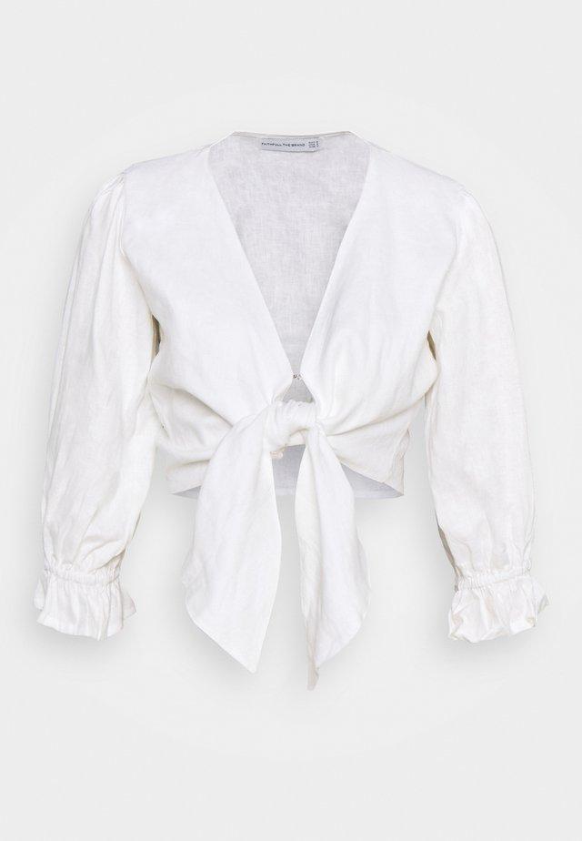 JACINTA - Top sdlouhým rukávem - plain white