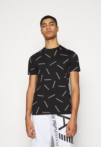 Emporio Armani - T-shirt imprimé - nero bianco - 0