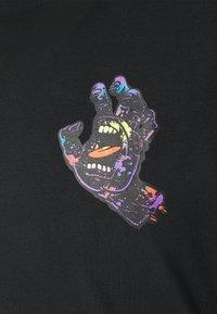 Santa Cruz - HAND SPLATTER UNISEX - Print T-shirt - black - 2