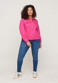 Zizzi - Denim jacket - pink - 1
