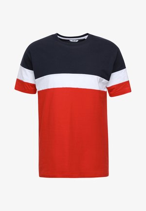 ONSBAILEY  - T-Shirt print - dark navy/racing red