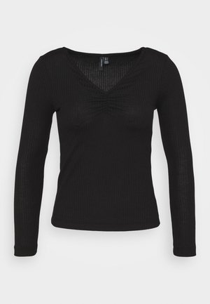 VMPOLLY NECK PETITE - Long sleeved top - black