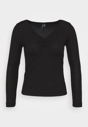VMPOLLY NECK PETITE - Top sdlouhým rukávem - black