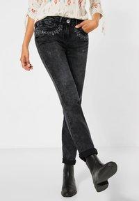 Cecil - Straight leg jeans - schwarz - 0