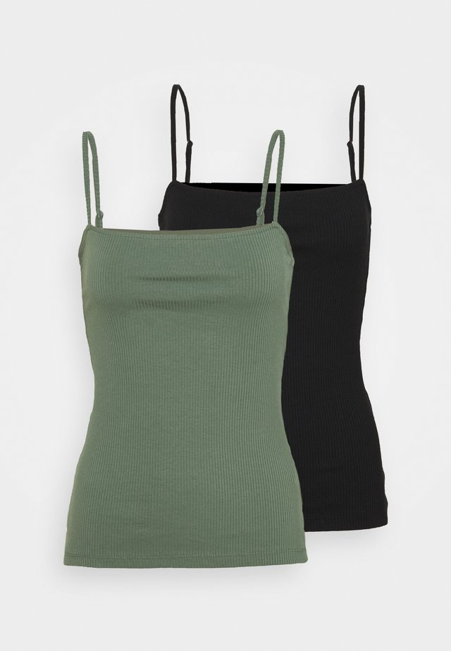 2 PACK - Top - black/green