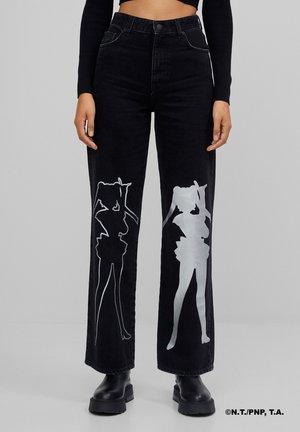 SAILOR MOON - Straight leg jeans - black