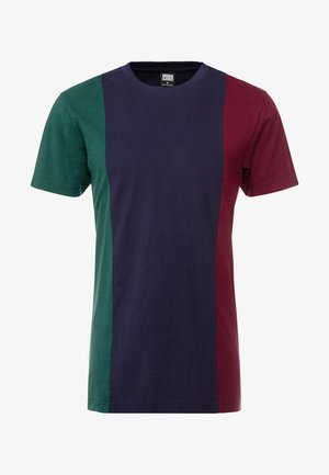 TRIPPLE TEE - Print T-shirt - bottlegreen/midnightnavy