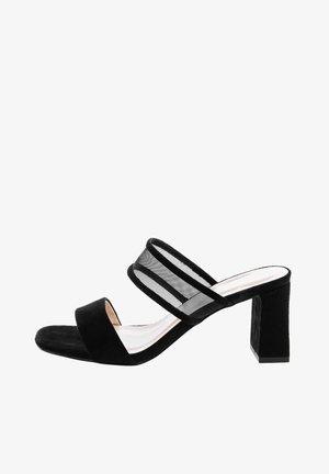 MALADERA - Pantofle na podpatku - black