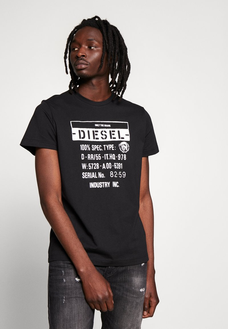 Diesel - T-DIEGO-S1 T-SHIRT - Triko spotiskem - black