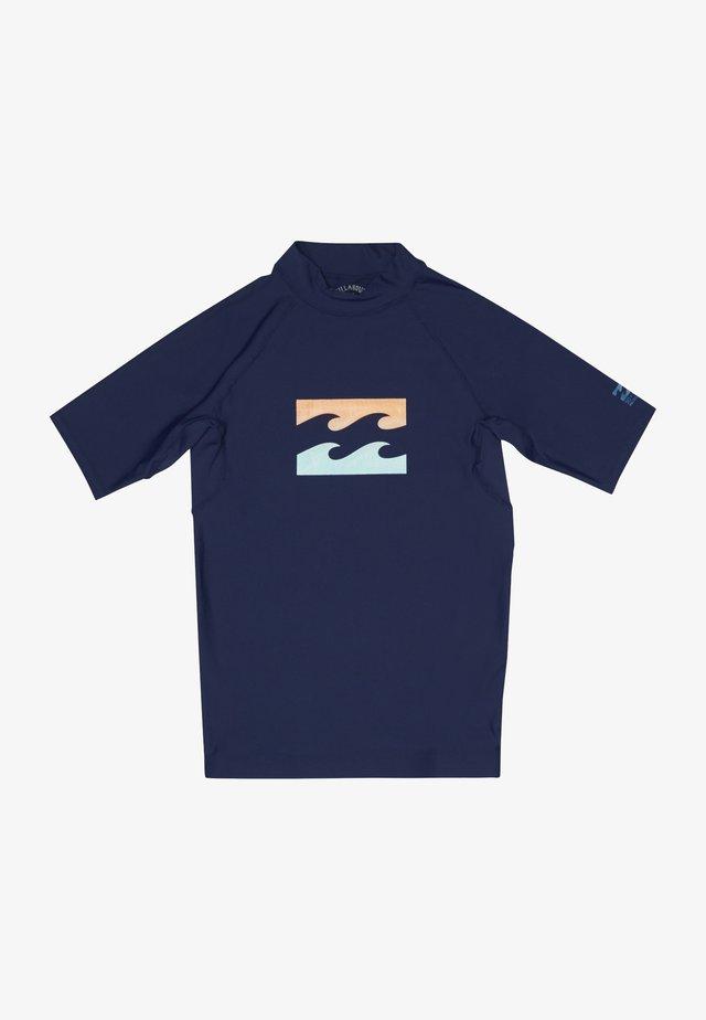 TEAM WAVE - Rash vest - navy