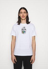 PS Paul Smith - MENS REGULAR  FIT SKULL - Print T-shirt - white - 0