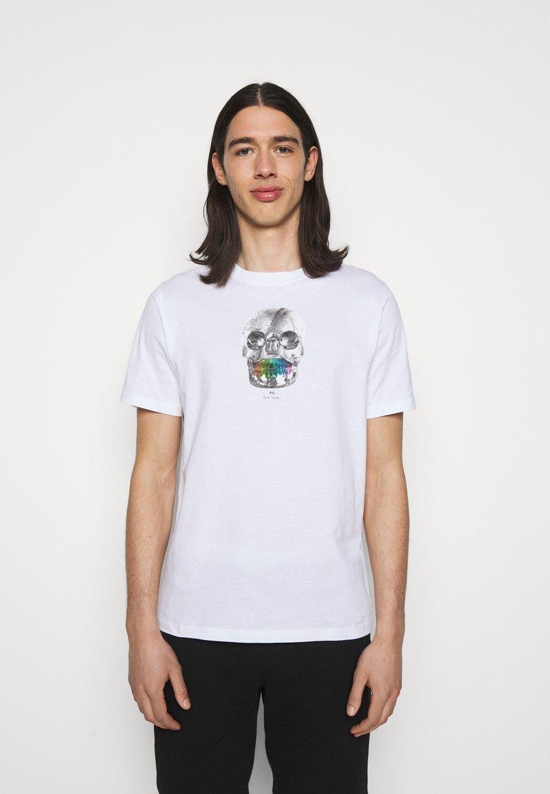 PS Paul Smith - MENS REGULAR  FIT SKULL - Print T-shirt - white