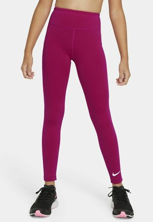 ONE  - Leggings - fireberry/white