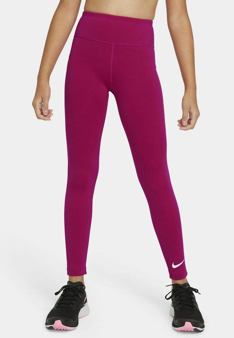 Nike Performance - ONE  - Leggings - fireberry/white