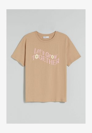 OVERSIZED - Print T-shirt - camel